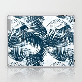 Blue Palm Leaves Laptop & iPad Skin