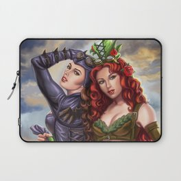 Steampunk Poison Ivy and Batgirl Laptop Sleeve