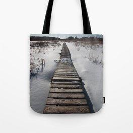 Winter at the Boardwalk Tote Bag