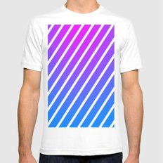 Stripes MEDIUM Mens Fitted Tee White