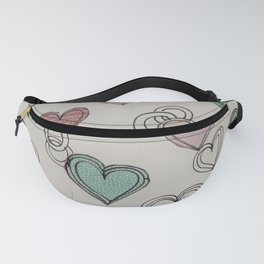 heart collage Fanny Pack