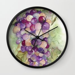 Wine Grapes 2 Wall Clock