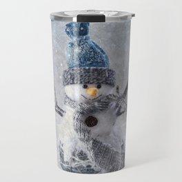 Cute snowman frozen freeze Travel Mug