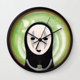 NO FACE MATCHA Wall Clock