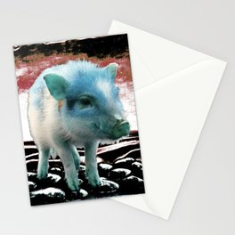 The blue PIG Stationery Cards