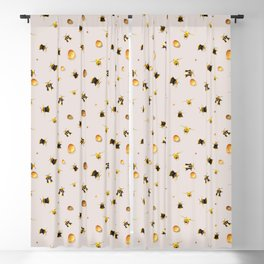 Bees and honey Blackout Curtain