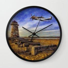 North American P-51 Mustang Wall Clock
