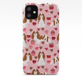 Cavalier King Charles Spaniel blenheim valentines day cupcake heart dog breed spaniels pet gifts iPhone Case