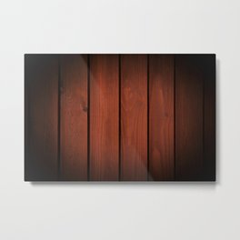 Brown dark boards texture Metal Print