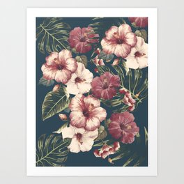 Flower pattern A Art Print