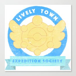 Lively Town Expedition Society Canvas Print