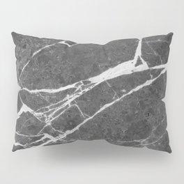 Matte Black Marble Pillow Sham