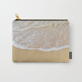 Beautiful wave surfing on a sandy beach Carry-All Pouch