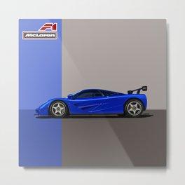 McLaren F1 Chassis 011 - Brilliant Blue Metallic Metal Print