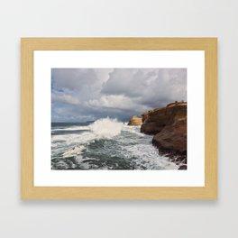 Like Water Upon Rock Framed Art Print
