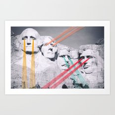 Embroidered Mt. Rushmore Art Print