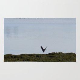 Osprey In Flight on the Ocean Rug