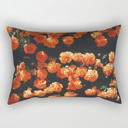 Orange Flowers Everywhere Rectangular Pillow