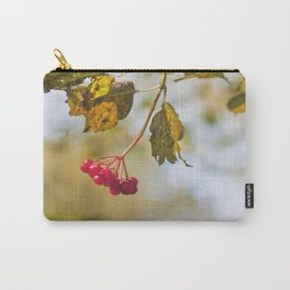 Berry Bokeh Fine Art Photographic Winter Print  Carry-All Pouch