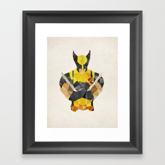 Polygon Heroes - Wolverine Framed Art Print