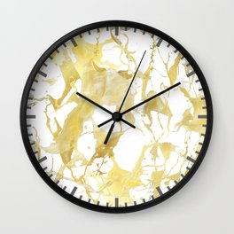 Marble gold Wall Clock