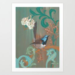 Morris' Birds - Fairy Wren Art Print