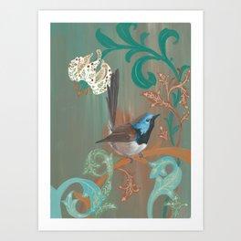 Morris' Birds - Fairy Wren Art Print