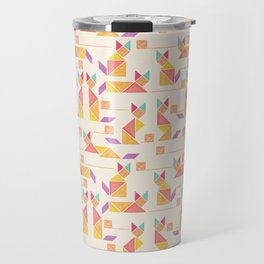 Tangram Cats Travel Mug