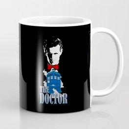 11TH DOCTOR AND BLUE PHONE BOX Coffee Mug