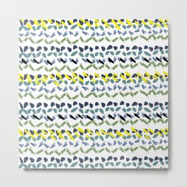 Abstract Pattern stripes ethnic african pattern Metal Print