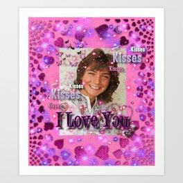 WE Love U - David Cassidy Art Print