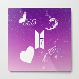 I Purple U 4ever Metal Print