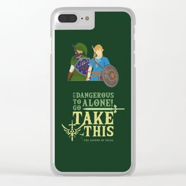 The legend of zelda - Minimalist Quote Game Clear iPhone Case