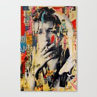 bob dylan Canvas Prints featuring Bob Dylan by Michiel Folkers