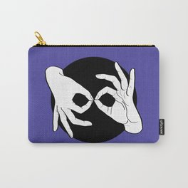 Sign Language (ASL) Interpreter – White on Black 02 Carry-All Pouch