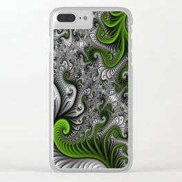 Fantasy World, abstract Fractal Art Clear iPhone Case