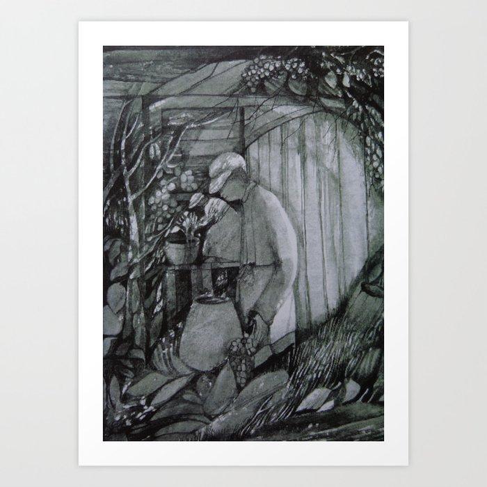 Wine Grower Art Print