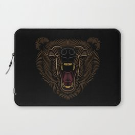 Bear Head - Line Art Grapic - Animal Drawing Laptop Sleeve