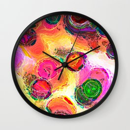 Color Dabs Wall Clock