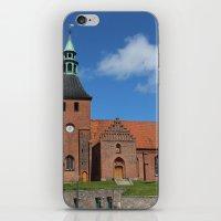 denmark iPhone & iPod Skins featuring Vor Frue Kirke, Svendborg, Denmark by Anders Riise Koch