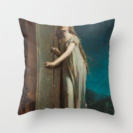 The Sleepwalker, or The Sleeping Girl Walks on the Window-Ledge by Maximilian Pirner Throw Pillow