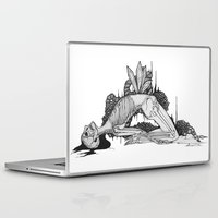 skeleton Laptop & iPad Skins featuring Skeleton by Sushibird