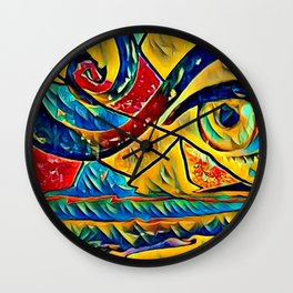 Eye in art Wall Clock
