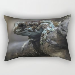 Small exotic frog on the branch Rectangular Pillow