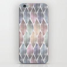 Metallic Leaf Pattern iPhone Skin