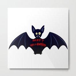 Creepy halloween bat Metal Print