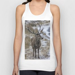 Twelve Point Stag in the Snow Unisex Tank Top