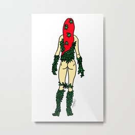 Hero Butt Ivy Poison Metal Print