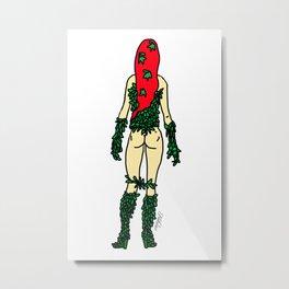 Superhero Butts - Green Ivy Metal Print