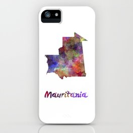Mauritania in watercolor iPhone Case